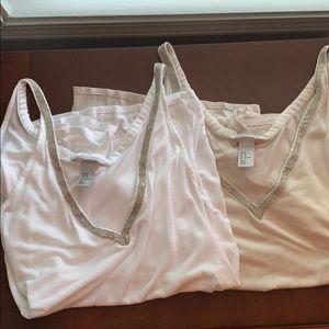 ‼️BUNDLE‼️ H&M Silver Studded Neckline Size Large
